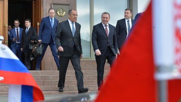 Главы МИД России и Беларуси Сергей Лавров и Владимир Макей в Минске - Sputnik Беларусь