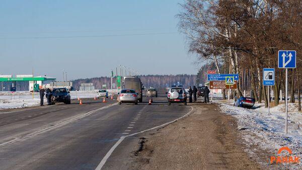 Авария с участием милицейского автомобиля под Светлогорском - Sputnik Беларусь