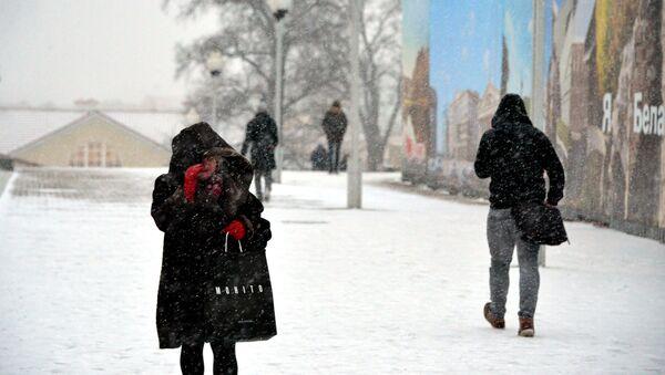 Сильная метель в Минске - Sputnik Беларусь
