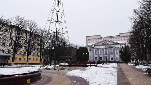 У Гомелі на месцы елкі, якая згарэла 1 студзеня, усталёўваюць новую - Sputnik Беларусь