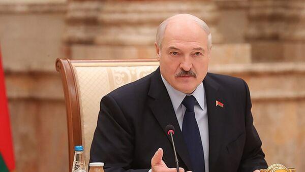 Александр Лукашенко на пресс-конференции для российских региональных СМИ в пятницу в Минске - Sputnik Беларусь