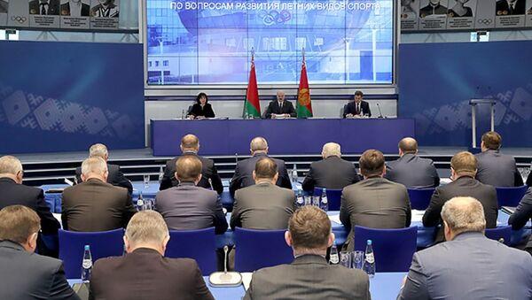 Совещание у президента Беларуси Александра Лукашенко по развитию летних видов спорта - Sputnik Беларусь