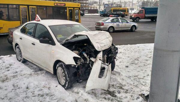 Место аварии в Минске - Sputnik Беларусь