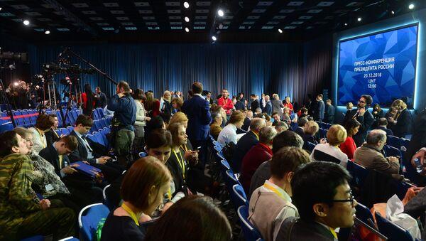 Ежегодная большая пресс-конференция президента РФ В. Путина - Sputnik Беларусь
