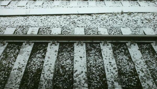 Рельсы в снегу, архивное фото - Sputnik Беларусь