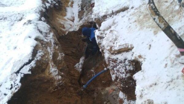 В Ганцевичах экскаватор повредил подземный газопровод - Sputnik Беларусь