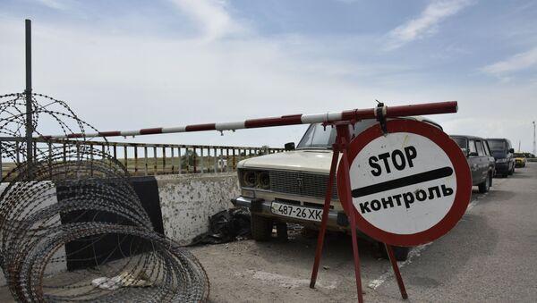 Автомобильный пункт пропуска Джанкой на российско-украинской границе - Sputnik Беларусь