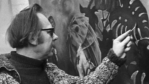 Мастак Гаўрыіл Вашчанка ў сваёй майстэрні, 1977 год - Sputnik Беларусь