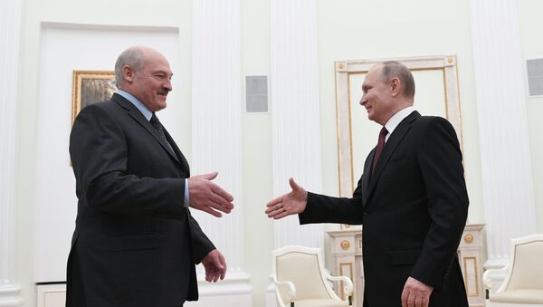 Президент России Владимир Путин встретился с президентом Беларуси Александром Лукашенко - Sputnik Беларусь