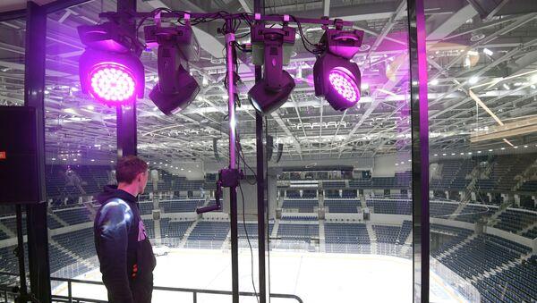 Тренировка ХК Динамо (Москва) на новом стадионе - Sputnik Беларусь
