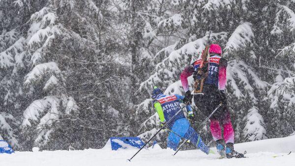 Женский спринт на этапе кубка мира по биатлону в немецком Оберхофе - Sputnik Беларусь