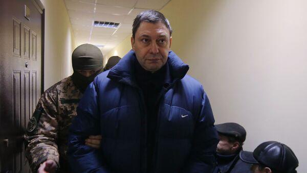 Пасяджэнне суда па справе журналіста Кірыла Вышынскага ў Херсоне - Sputnik Беларусь