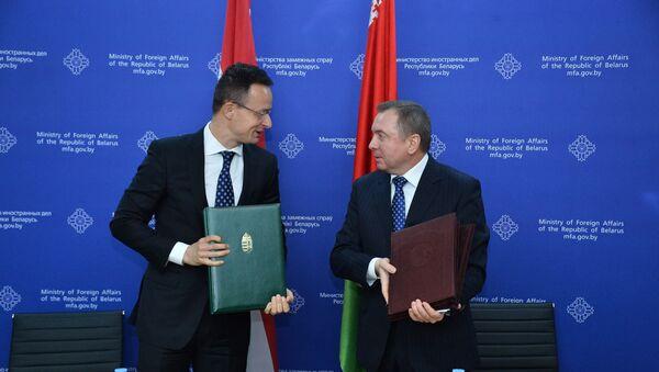 Министры иностранных дел Беларуси и Венгрии Владимир Макей и Петер Сийярто - Sputnik Беларусь