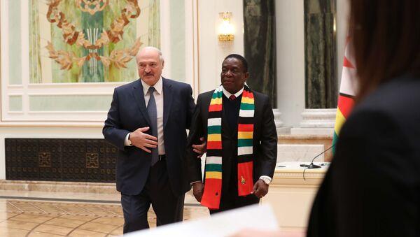 Президент Беларуси Александр Лукашенко и президент Зимбабве Эммерсон Мнангагва - Sputnik Беларусь