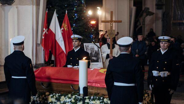 Церемония прощания с мэром Гданьска Павлом Адамовичем - Sputnik Беларусь