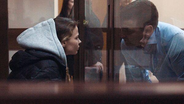 Анастасия Вашукевич (Настя Рыбка) на заседании Нагатинского суда - Sputnik Беларусь