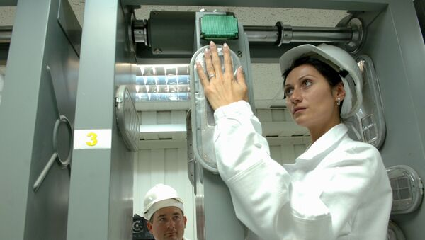Работа службы радиационного контроля, архивное фото - Sputnik Беларусь