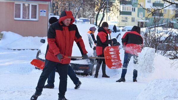 Начальники вышли на уборку снега  - Sputnik Беларусь