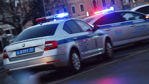 Автомобили полиции на дороге, архивное фото - Sputnik Беларусь