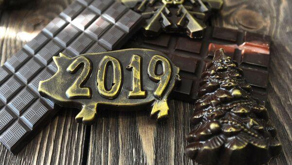 Символ 2019 года – свинья из шоколада - Sputnik Беларусь