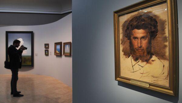 Портрет художника А.И. Куинджи В.М. Васнецова на выставке Архип Куинджи - Sputnik Беларусь