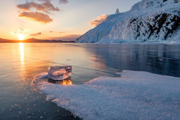 Захад сонца на возеры Байкал. - Sputnik Беларусь