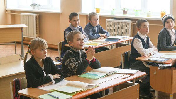 У класах па 8-10 вучняў - за ўрок настаўнік паспявае надаць увагу кожнаму, па сутнасці індывідуальны падыход атрымліваецца - Sputnik Беларусь
