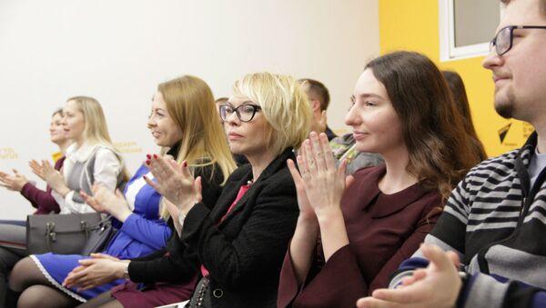 На майстар-класах SputnikPro пабывала каля 40 супрацоўнікаў спартыўных арганізацый і журналістаў з розных выданняў - Sputnik Беларусь