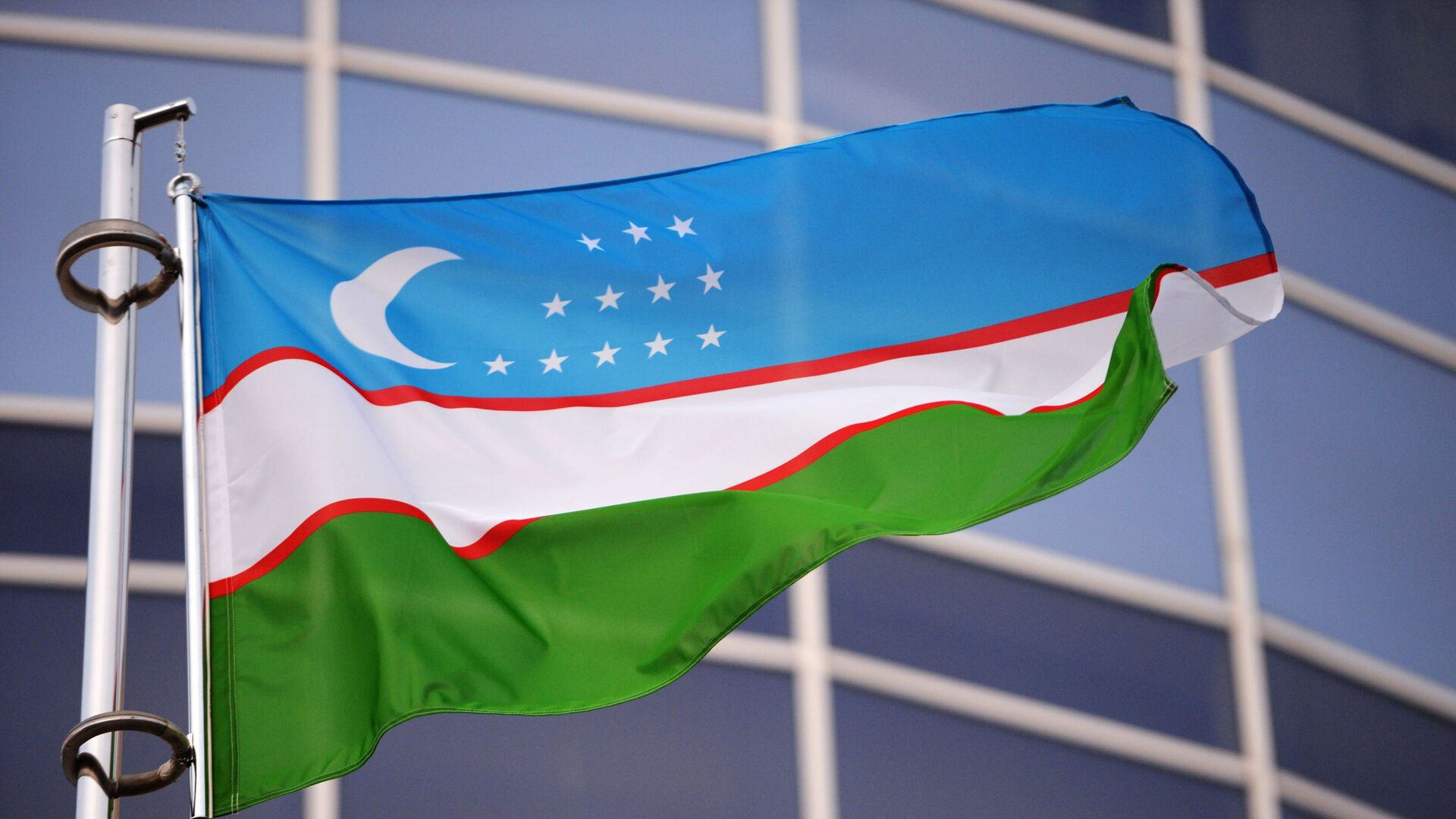 Государственный флаг Узбекистана - Sputnik Беларусь, 1920, 01.07.2021