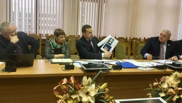 Начальник ГУБОПиК демонстрирует экспертам и депутатам фотографии запротоколированных неонацистов с татуироваками - Sputnik Беларусь