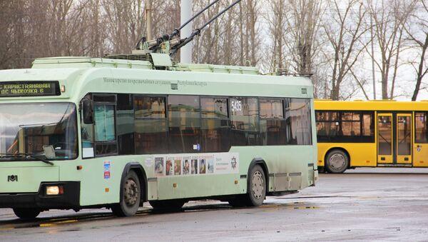 Троллейбус на диспетчерской станции, архивное фото - Sputnik Беларусь