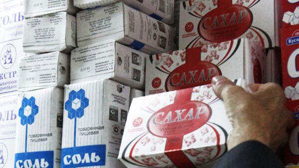 Сахар и соль на прилавке универсама - Sputnik Беларусь