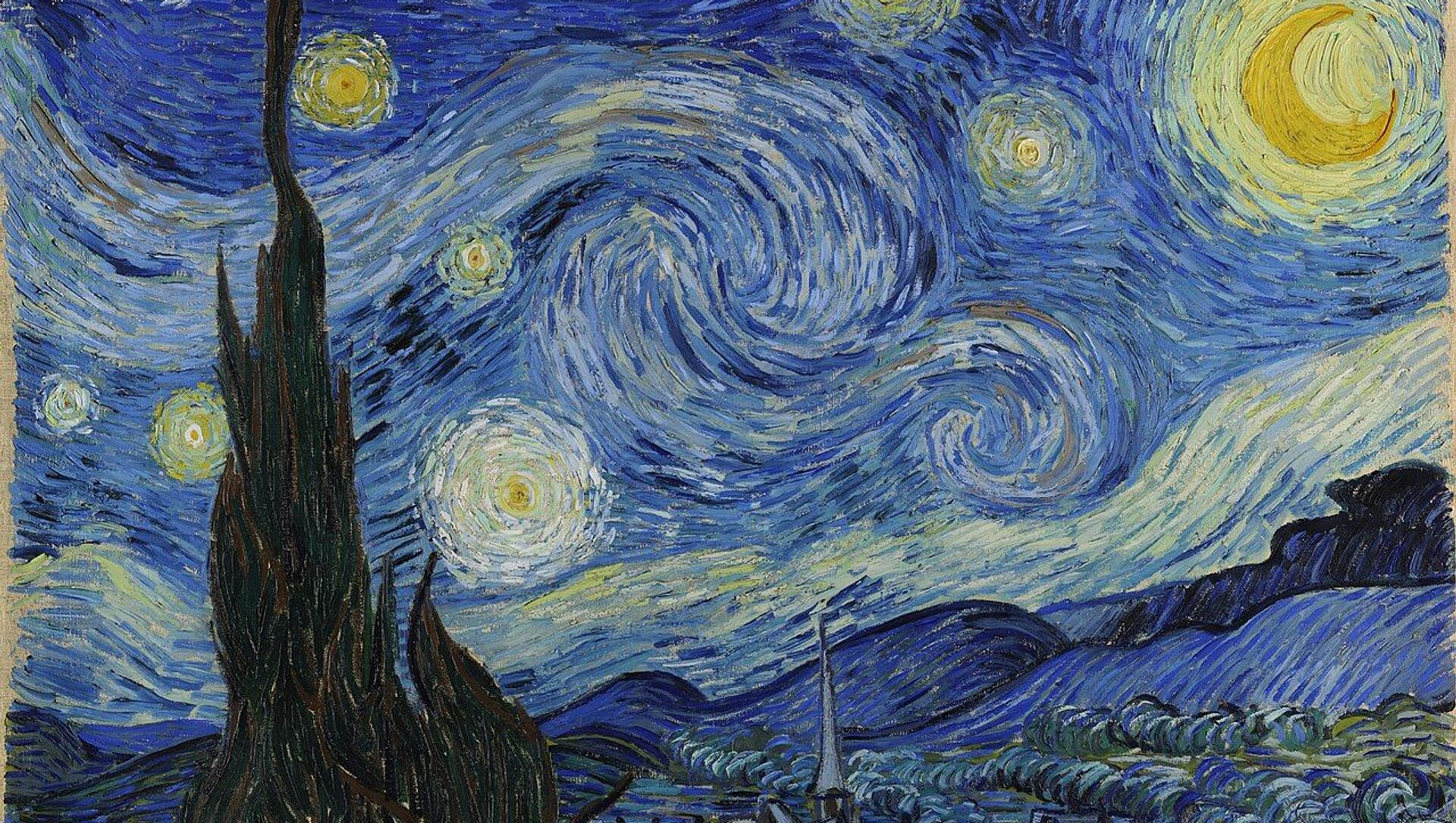 Картина Звездная ночь нидерландского художника-постимпрессиониста Винсента Ван Гога  - Sputnik Беларусь, 1920, 30.03.2021