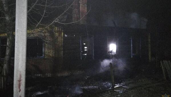 Последствия пожара в Быховском районе - Sputnik Беларусь