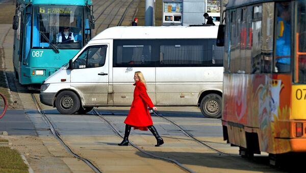 Маршрутка и трамваи, архивное фото - Sputnik Беларусь