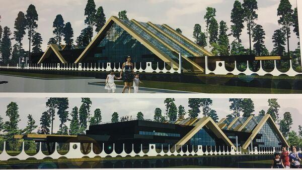 Так по замыслу архитекторов будет выглядеть экспозиционная оранжерея с торгово-выставочным павильоном - Sputnik Беларусь
