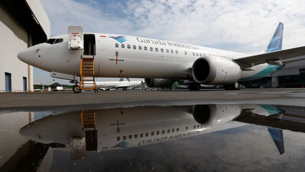Boeing 737 MAX в аэропорту, архивное фото - Sputnik Беларусь