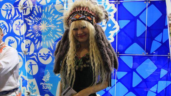 Наталья Трофимова на выставке в Москве - Sputnik Беларусь