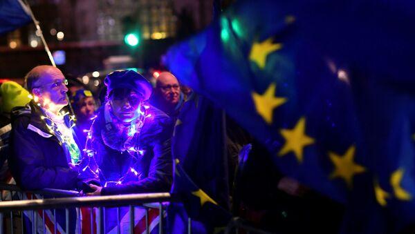 Демонстранты в Лондоне - Sputnik Беларусь