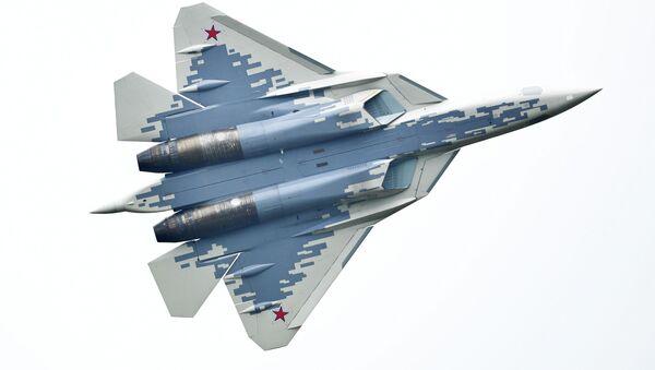 Многофункциональный истребитель Су-57, архивное фото - Sputnik Беларусь
