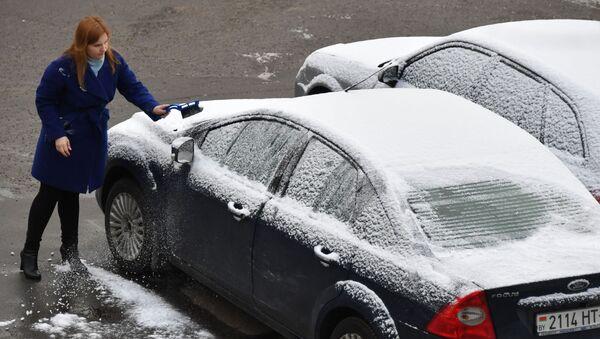 Снег в марте, архивное фото - Sputnik Беларусь