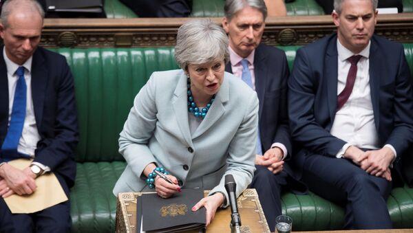 Премьер-министр Великобритании Тереза Мэй на заседании парламента - Sputnik Беларусь