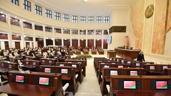 Овальный зал с электронной системой голосования - Sputnik Беларусь