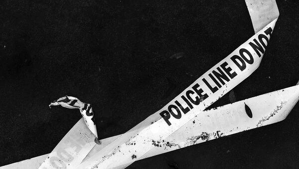 Полицейская лента ограждения, архивное фото - Sputnik Беларусь