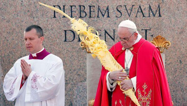 Понтифик отслужил праздничную мессу в Пальмовое воскресенье - Sputnik Беларусь