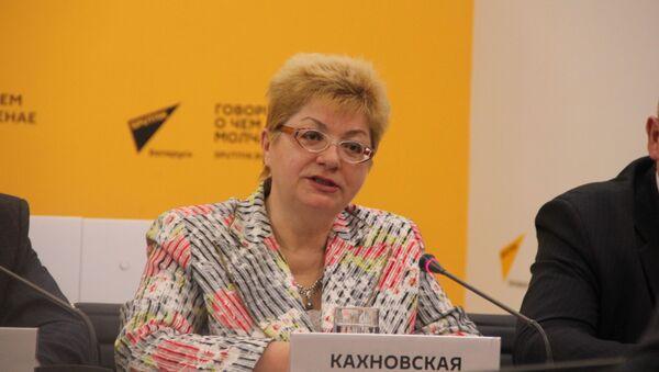 Наталья Кахновская в пресс-центре Sputnik - Sputnik Беларусь
