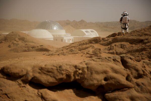 Вид на китайскую базу Mars Base 1, расположенную в пустыне Гоби в китайской провинции Ганьсу - Sputnik Беларусь