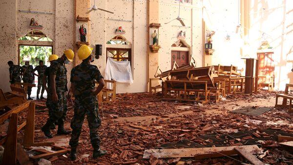 Разрушенная взрывом церковь на Шри-Ланке - Sputnik Беларусь