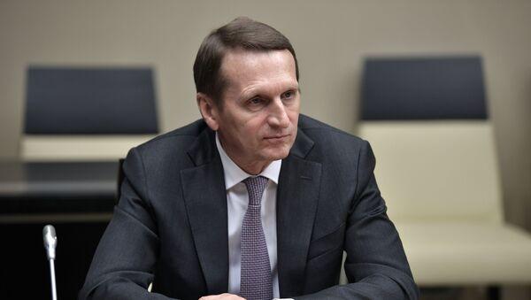 Глава Службы внешней разведки РФ Сергей Нарышкин - Sputnik Беларусь
