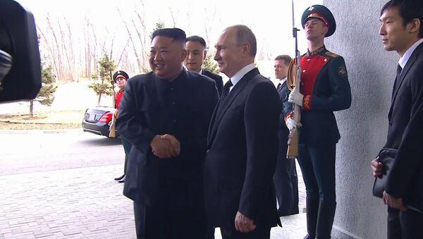 Встреча Путина и Ким Чен Ына - Sputnik Беларусь